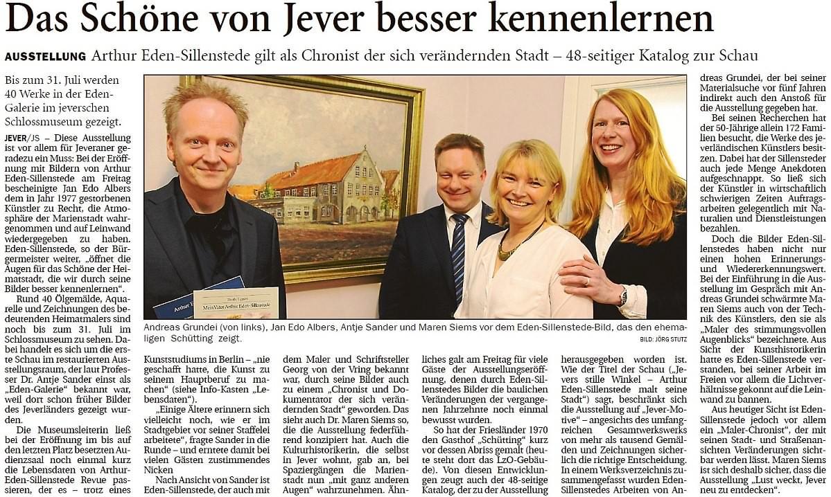 Pressebericht Eden-Sillenstede JW 10.04.2017