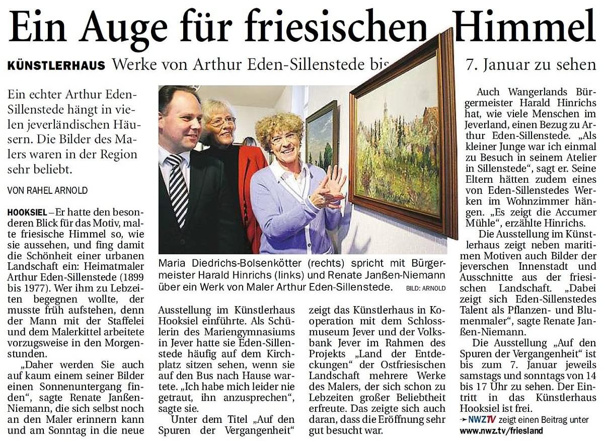 Pressebericht Eden-Sillenstede NWZ 19.11.2013