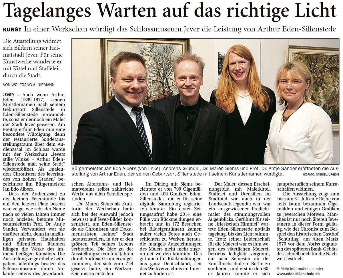 Pressebericht Eden-Sillenstede WZ 10.04.2017