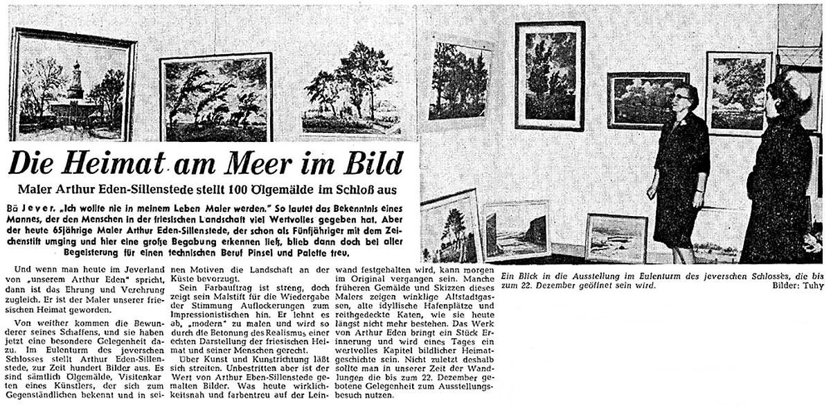 Pressebericht Eden-Sillenstede NWZ 02.12.1964