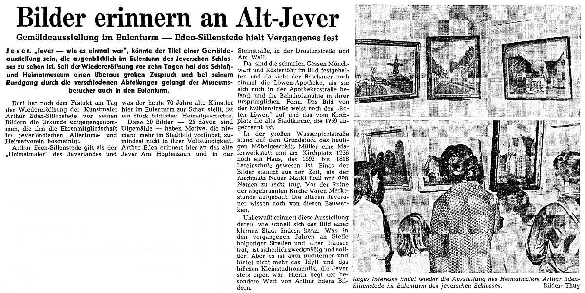 Pressebericht Eden-Sillenstede NWZ 19.06.1970