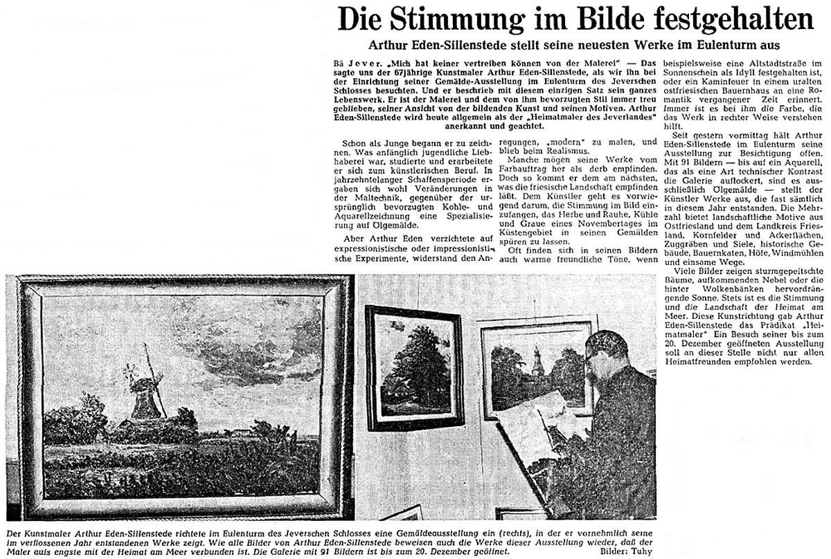 Pressebericht Eden-Sillenstede NWZ 29.11.1965