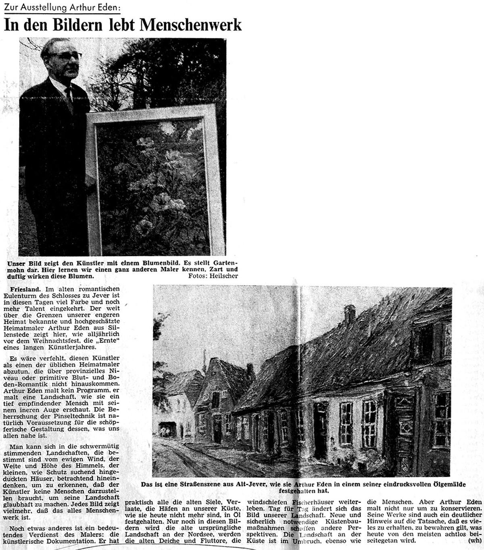 Pressebericht Eden-Sillenstede WZ 07.12.1966
